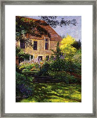 Manor House Steps Framed Print by David Lloyd Glover