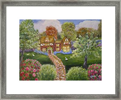 Framed Print featuring the painting Manor Of Yore by Quwatha Valentine