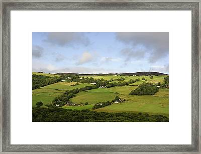 Framed Print featuring the photograph Manors On A Hillside by Christi Kraft