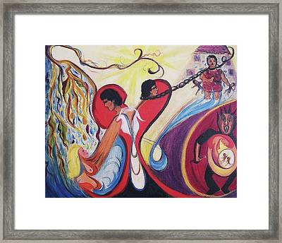 Man's Dilemna Framed Print by Suzanne  Marie Leclair