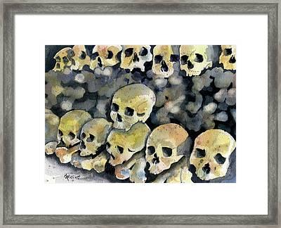 Mans Inhumanity To Man Framed Print by Marsha Elliott