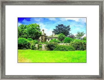 Mansion And Gardens At Harkness Park. Framed Print