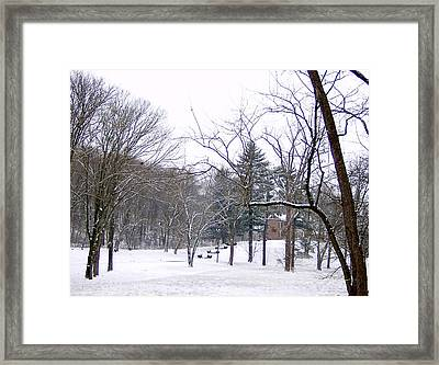 Framed Print featuring the photograph Mansion In The Snow by Skyler Tipton
