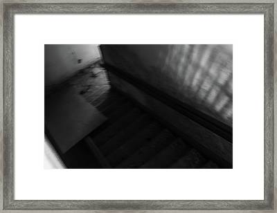 Mansion Stairs Framed Print