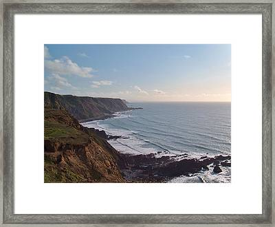Mansley Cliff And Gull Rock From Longpeak Framed Print
