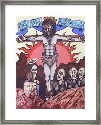 Manson Christ Framed Print by Sam Hane