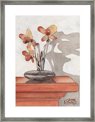 Mantel Flowers Framed Print