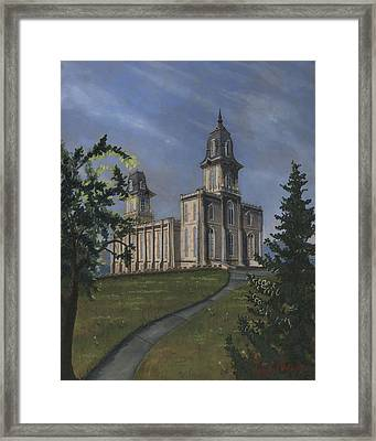 Manti Temple East Doors Framed Print