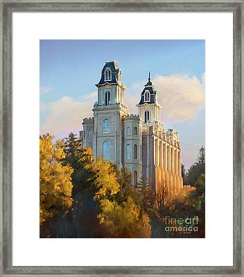 Manti Temple Tall Framed Print