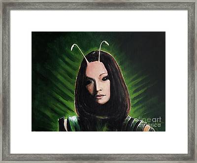 Mantis Framed Print by Tom Carlton