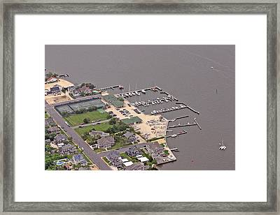 Mantoloking Yacht Club Mantoloking New Jersey Framed Print