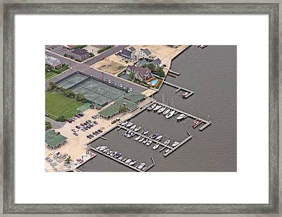 Mantoloking Yacht Club Mantoloking New Jersey II Framed Print