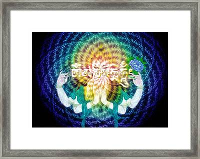 Mantra Of Compassion Framed Print by Robby Donaghey