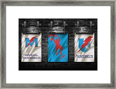 Manual Thunderbolts 3 Framed Print by Joe Hamilton