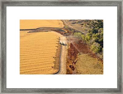 Many Acres To Harvest Framed Print