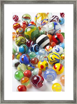 Many Beautiful Marbles Framed Print by Garry Gay