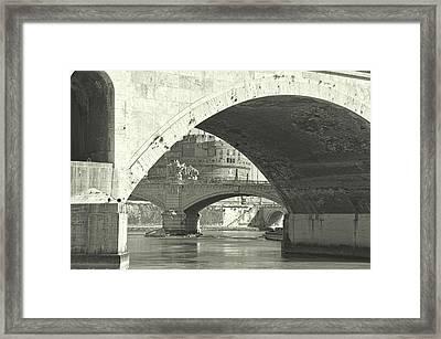 Many Bridges Of The Tiber Framed Print