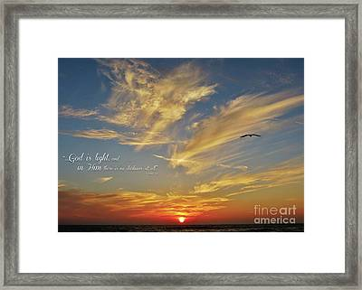 Many Colored Sunset Framed Print by John Groeneveld
