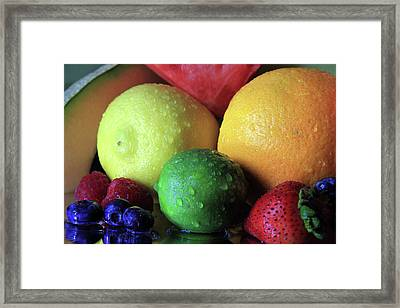 Many Colors Of Fruit Framed Print by Angela Murdock