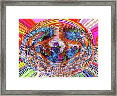 Framed Print featuring the digital art Many Colors Of Love  by Annie Zeno