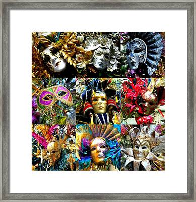Framed Print featuring the photograph Many Faces by Amanda Eberly-Kudamik