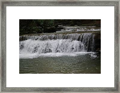 Many Falls Framed Print by Heather Green