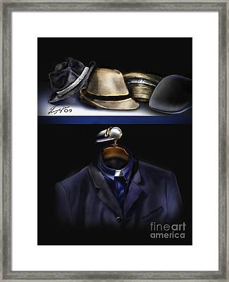 Many Hats One Collar Framed Print by Reggie Duffie