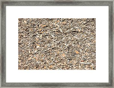 Many Jagged Pieces Of Broken Shale Stone Framed Print
