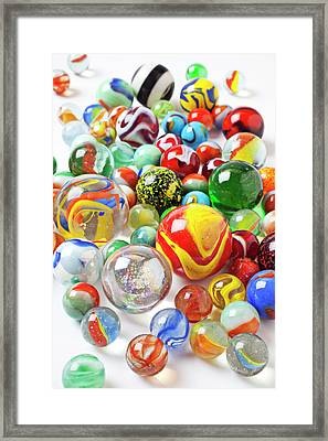 Many Marbles  Framed Print