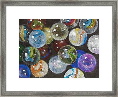 Many Marbles Framed Print by Joyce Geleynse