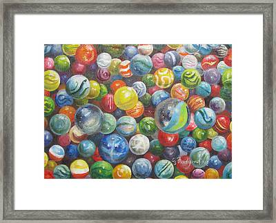 Many Marbles Framed Print by Oz Freedgood