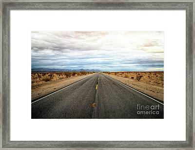 Many Miles Through Mojave Desert Framed Print
