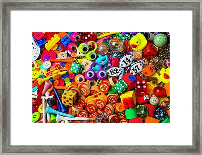 Many Things From The Drawer Framed Print by Garry Gay