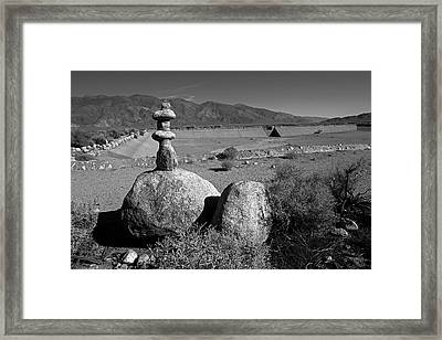 Manzanar Reservoir Water Monument Framed Print