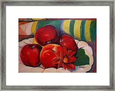 Manzanas Framed Print by Diana Moya