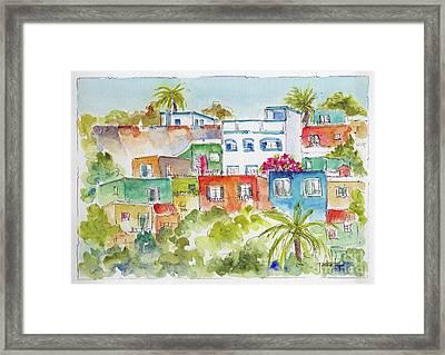 Manzanillo Hillside Framed Print