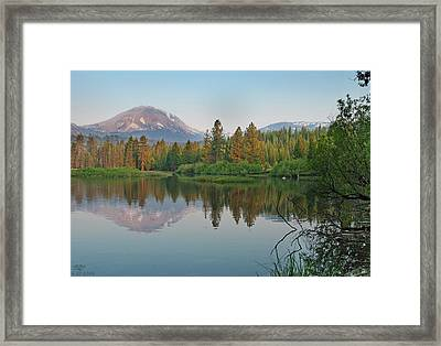 Manzanita Lake Framed Print