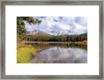 Framed Print featuring the photograph Manzanita Lake - Mount Lassen by James Eddy