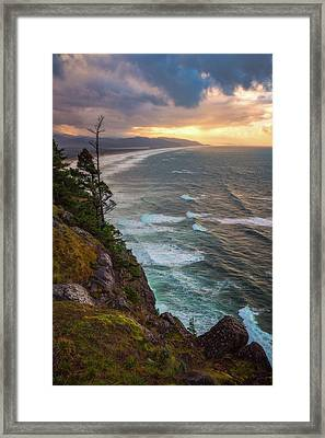 Framed Print featuring the photograph Manzanita Sun by Darren White