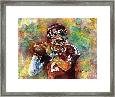 Manziel Framed Print by Hailey E Herrera
