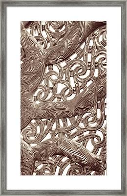 Maori Abstract Framed Print