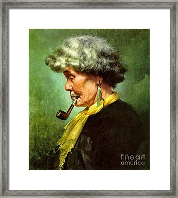 Maori Queen 1902 Framed Print by Padre Art
