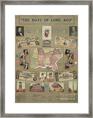 Map: Confederate States Framed Print by Granger