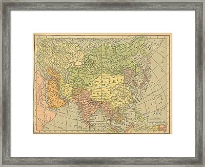 Framed Print featuring the drawing Map Europe by Digital Art Cafe
