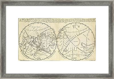 Map Marking Transit Of Venus, 1770 Framed Print by Wellcome Images