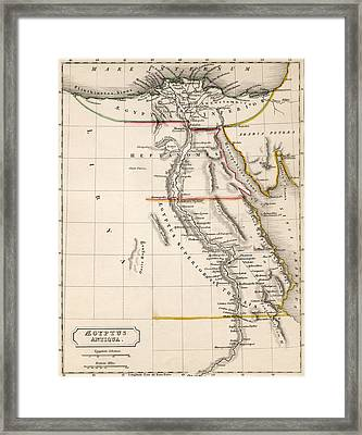 Map Of Aegyptus Antiqua Framed Print by Sydney Hall