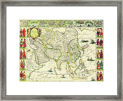 Map Of Asia From 1632 Framed Print