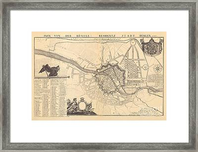 Map Of Berlin, 1737 Framed Print
