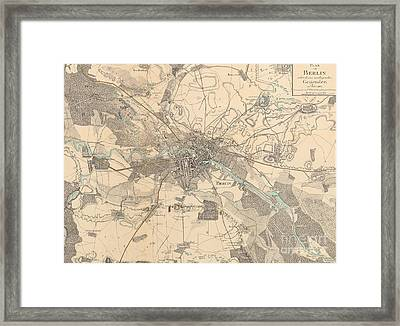 Map Of Berlin, 1802 Framed Print