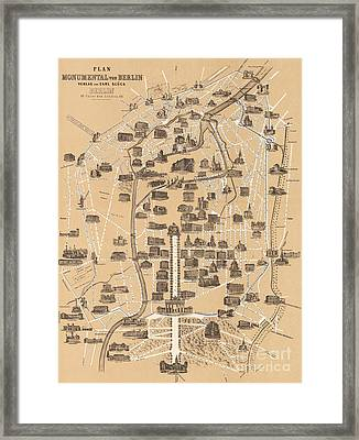 Map Of Berlin, 1860 Framed Print